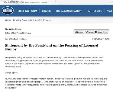 Statement by the President on the Passing of Leonard Nimoy.jpg