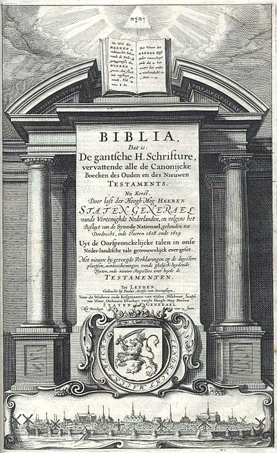 Statenvertaling title page