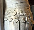 Statua loricata frammentaria, dal foro di traiano, 112 dc ca. 07.JPG
