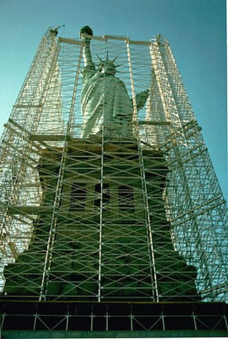 Conservation-restoration of the Statue of Liberty - Statue of Liberty restoration project, 1984