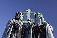 Statue of SS Cyril and Methodius on Radhost (1).JPG