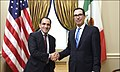 Steven Mnuchin and Arturo Herrera Gutierrez at 2019 IMF Meeting.jpg