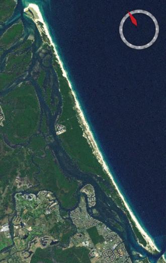 South Stradbroke Island - NASA Landsat Image of South Stradbroke