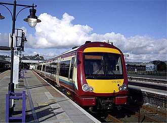 Stirling railway station, Scotland - Class 170s are used on many services at Stirling