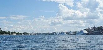 Saltsjön - Cruiseferry ships in port at Saltsjön.