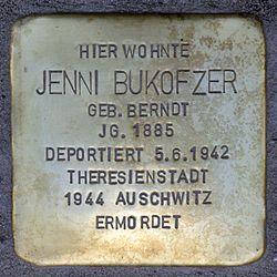 Photo of Jenni Bukofzer brass plaque