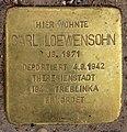Stolperstein Eisvogelweg 5 (Zehld) Carl Loewensohn.jpg