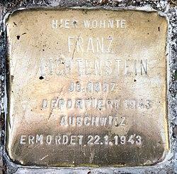 Photo of Franz Lichtenstein brass plaque