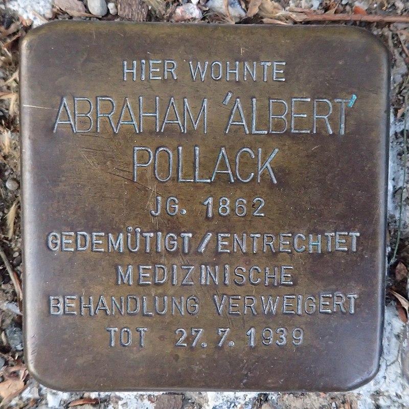 Stolperstein für Abraham 'Albert' Pollack
