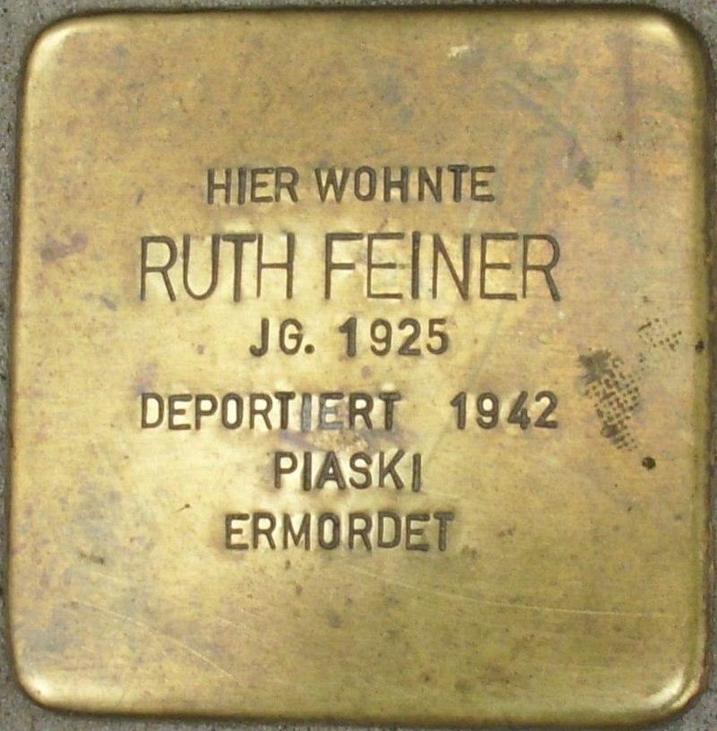 Stolperstein Ruth Feiner.jpg