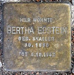 Photo of Bertha Ebstein brass plaque