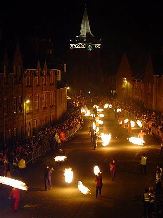Hogmanay - Stonehaven Fireballs Ceremony 2003