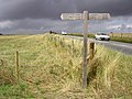 Stonehenge World Heritage Site signpost alongside the A303 - geograph.org.uk - 31904.jpg