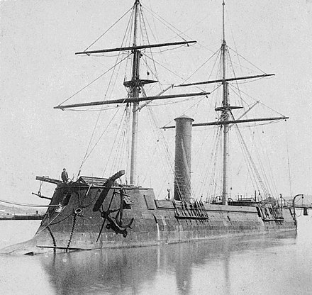 The French-built Kotetsu (ex-CSS Stonewall), Japan's first modern ironclad, 1869 Stonewall-Kotetsu.jpg