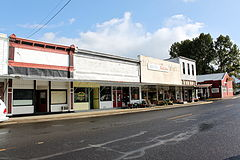 Storefronts on Main Street in Scio