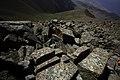 Strangely cut stones - Climbing Tastar-Ata (3.847m) (15125666352).jpg