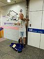 Street Musician Playing Violin in Taipei Metro Square, Taipei Main Station 20140726.jpg