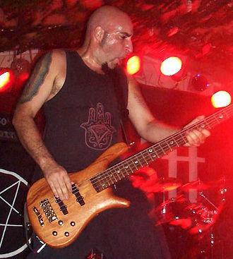 Stuart Cavilla - Stuart Cavilla playing at a Breed 77 concert in Gibraltar on 2005-09-03.