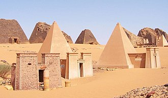 The pyramids of Meroe - UNESCO World Heritage. Sudan Meroe Pyramids 30sep2005 2.jpg