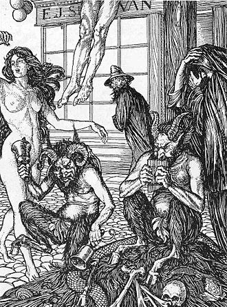 E. J. Sullivan - Teufelsdröckh in Monmouth Street, illustration to Sartor Resartus by Thomas Carlyle.