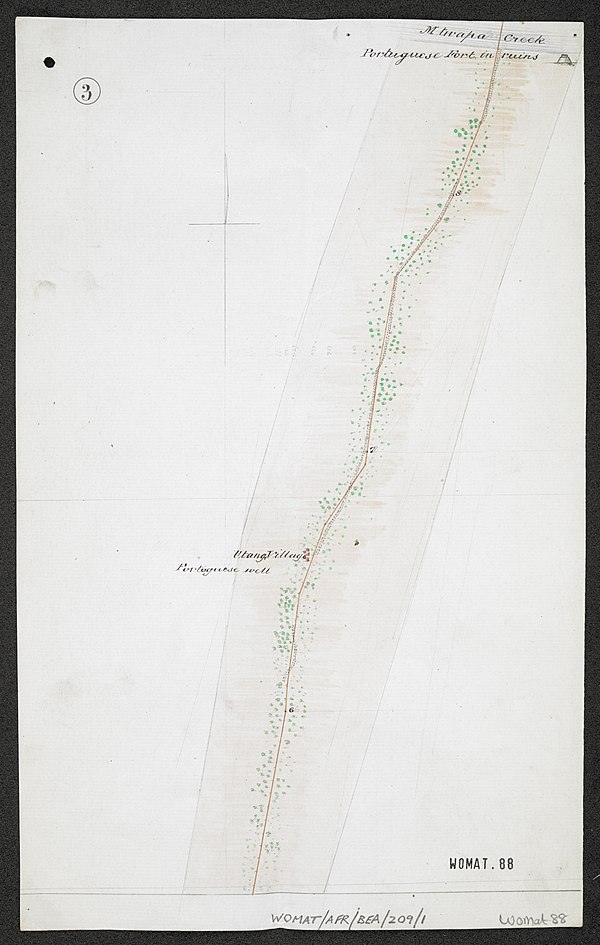 600px survey of telegraph line from frere town mombassa to malindi. east africa. %28womat afr bea 209 1 3%29