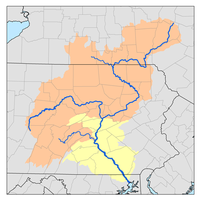 Susquehanna River watershed map with lower Susquehanna River watershed highlighted.png