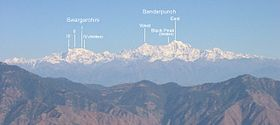 Swargarohini and Bandarpunch in the Himalaya, from Landour.jpg