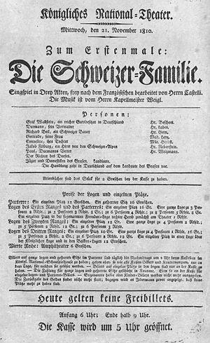 Die Schweizer Familie - Die Schweizer-Familie (Berlin 1810)