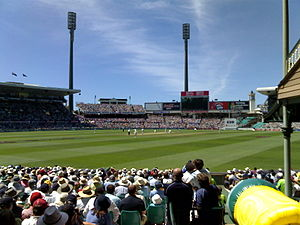 Cricketspiel im Sydney Cricket Ground