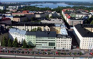 Töölö, Helsinki from the olympic stadium tower.jpg