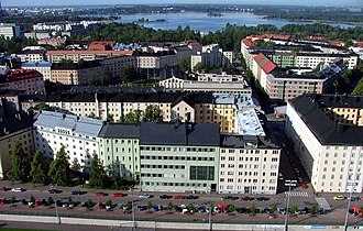 Töölö - Töölö as seen from the Helsinki Olympic Stadium tower