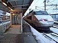TGV enneigé en gare d'Annecy (décembre 2008).JPG