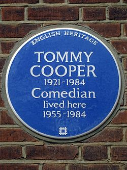 Tommy cooper 1921 1984 comedian lived here 1955 1984