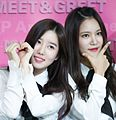 Taeha and Seoyul at Berry Good Mnet M-Wave Meet & Greet, 14 December 2015.jpg