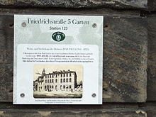 Tafel am Haus Friedrichstraße 5 (Quelle: Wikimedia)