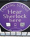 Talking Statue plaque for the statue of Sherlock Holmes outside the Baker Street station in London.jpg