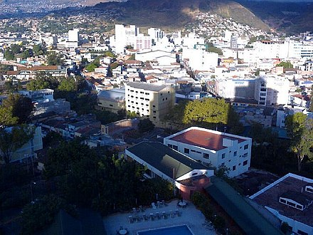 Downtown Tegucigalpa as viewed westward from the Honduras Maya Hotel TegucigalpaMayaHotelView.jpg