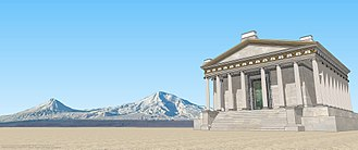 Artaxata - An attempt to restore the temple of Tir Apollo to Artaxata, located in the lower town, near the Aras river