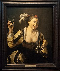 A Girl Holding a Glass (\