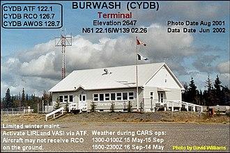 Burwash Airport - Image: Terminal, Burwash Landing airport, Yukon