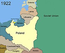 Territorial changes of Poland, 1922.