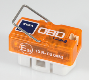 On-board diagnostics - TEXA OBD log. Small data logger with the possibility to read out the data later on PC via USB.