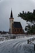 Texel - Den Hoorn - Hoge Achterom - View NE on Hoornder Kerkje in Winter.jpg