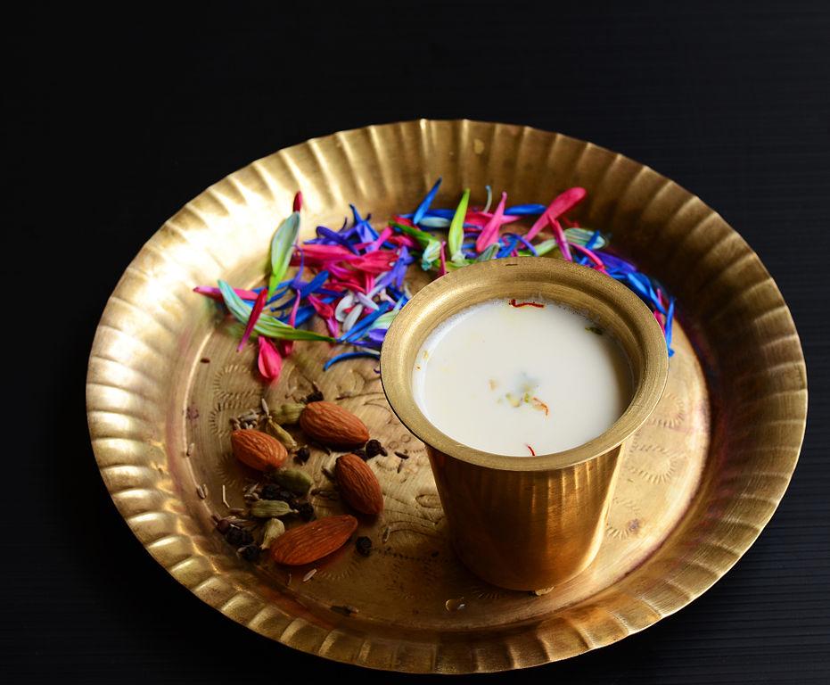 Thandai Indian sweetened milk