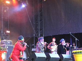 The Abyssinians - Performing at the Uppsala Reggae Festival, 2010