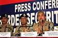 The Addl. DG (E), Border Security Force, Shri B.D. Sharma addressing a Press Conference on the occasion of the '48th BSF day celebrations - 2013', at Kolkata on December 02, 2013.jpg