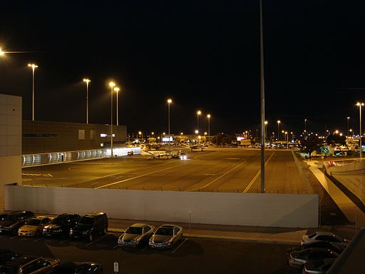 The Adelaide Airport at night