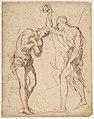 The Baptism of Christ (recto); Kneeling Figure (?) in a Landscape (verso) MET DP809901.jpg