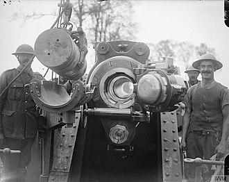 BL 12-inch howitzer - Image: The Battle of Passchendaele, July november 1917 Q7811