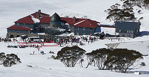 Charlotte Pass, New South Wales - The Chalet during August